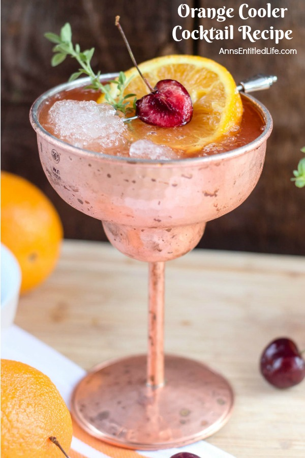 Orange Cooler Cocktail. A fresh, delicious cocktail bursting with orange flavor, this Orange Cooler will really hit the spot on a hot summer day. Try one this weekend!