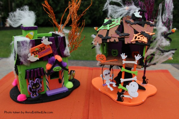 Halloween Haunted House. These Halloween Haunted Houses are great for table decor, a centerpiece or on top of your mantel.