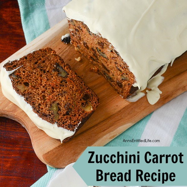 Zucchini Carrot Bread Recipe. A very dense Zucchini Carrot Bread, this recipe is satisfying as a snack or for breakfast.