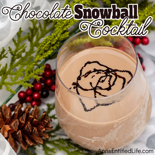 Chocolate Snowball Cocktail Recipe. This chocolate snowball cocktail is a smooth, delicious, decadent holiday cocktail sure to put the happy in your holidays! Serve at parties, in front of a fire, or just as a special holiday relaxer. This cocktail is so good!