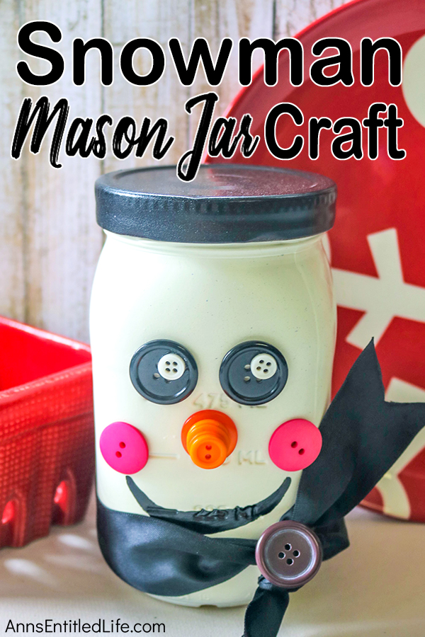 Snowman Mason Jar Craft DIY. If you are looking for a fun, easy to make winter craft, this simple step-by-step Snowman Mason jar tutorial will fit the bill! Highly customizable, this straightforward winter craft is inexpensive to make, and can be made by nearly anyone.