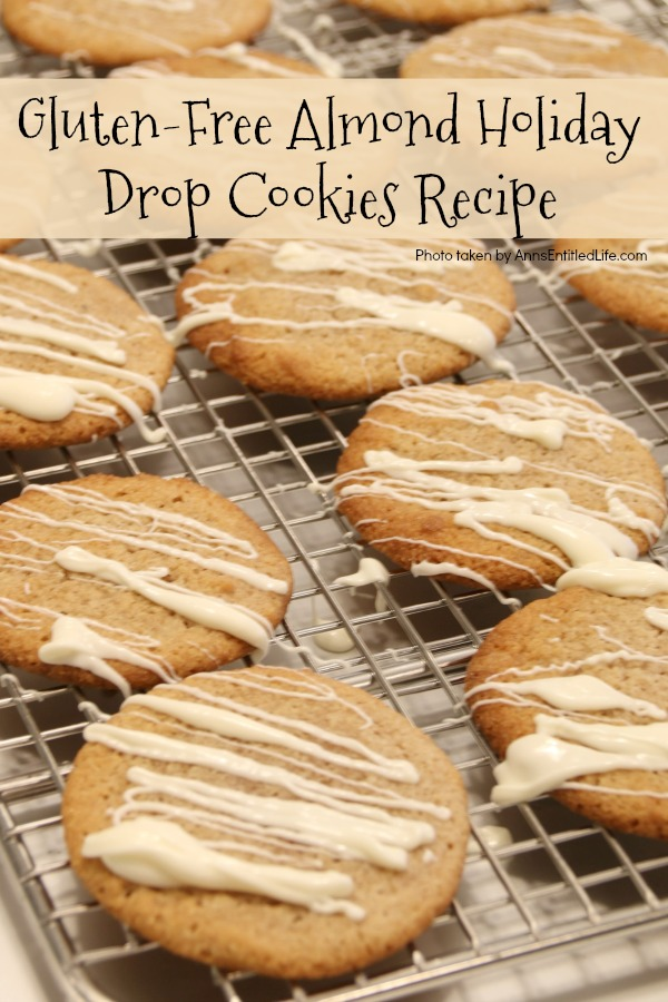 Gluten-Free Almond Holiday Drop Cookies Recipe. This delicious holiday drop cookie tastes so good; you won't be able to tell it is gluten-free. Try these amazing Gluten-Free Almond Holiday Drop Cookies - your family will love them!