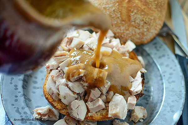Hot Turkey Sandwich Recipe. This is an easy, delicious leftover turkey recipe that is ready in time flat to serve for lunch or dinner the next day. Your whole family will enjoy this hot turkey sandwich recipe.