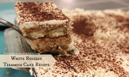 White Russian Tiramisu Cake Recipe