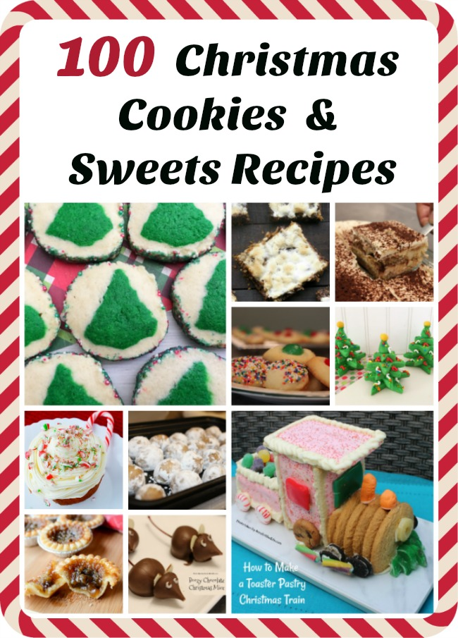 100+ Christmas Cookies and Sweets Recipes. Here is a great list of over 100 Christmas Cookies and Christmas Sweets recipes that are perfect for a holiday party, Christmas dessert, or even a cookie exchange! There is a delicious dessert recipe on this giant list just waiting to be served at your holiday function, so be sure to check out this long list of holiday treats.