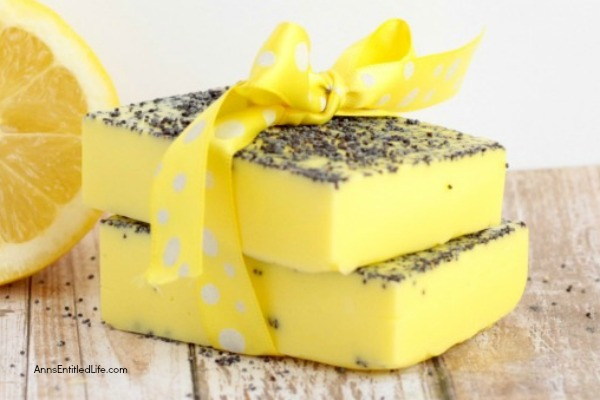 DIY Lemon Poppy Seed Soap: Homemade Soap Recipe, Making your own soap is fast, fun and easy. This lemon poppy seed soap recipe is easy enough for soap making beginners. If you are looking for a new and unusual soap recipe to make at home, this lemon poppy seed soap recipe is it!