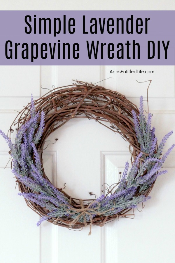 grapevine wreath with dried lavender