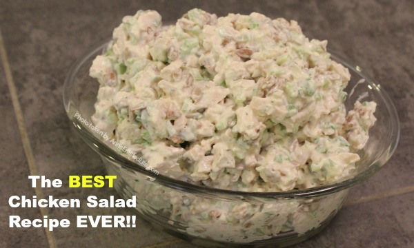 This is the BEST chicken salad recipe EVER! There is no way to describe how good this chicken salad is – you will have to make it and see. Believe me when I say this chicken salad is simply delicious.