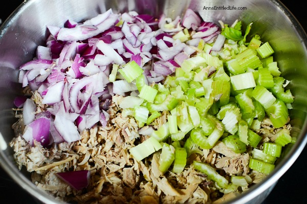 Dilled Chicken Salad Recipe. Do you have leftover cooked chicken? Make this simple dilled chicken salad recipe. It comes together in minutes for a fast and delicious lunch entrée. Yum!