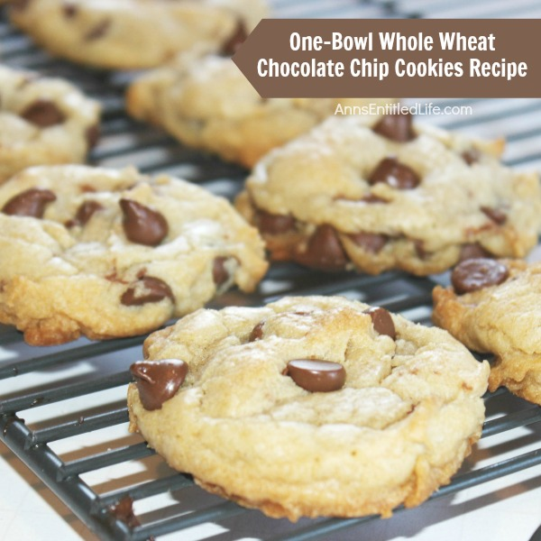One-Bowl Whole Wheat Chocolate Chip Cookies Recipe. If you are looking for a delicious whole wheat chocolate chip cookie recipe, you have found it! These are a delicious and chewy chocolate chip cookie, using whole wheat flour. Simple to make, these one-bowl chocolate chip cookies are simply fabulous.