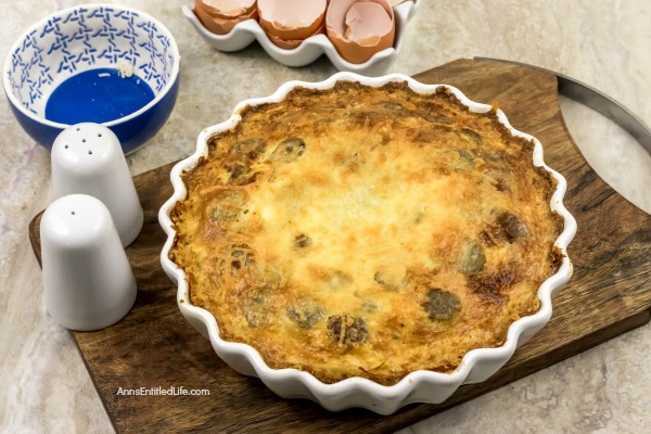 Sausage Breakfast Pie Recipe. This yummy sausage breakfast pie recipe is a really great meal for breakfast, brunch or dinner! This breakfast pie recipe freezes fabulously so makes for a great freezer casserole meal. Make two sausage breakfast pie recipes at once – one to serve - and one pie to freeze for later when you need that perfect meal quickly.