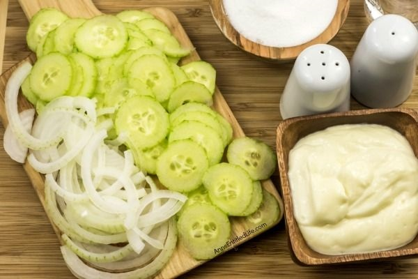 Creamy Cucumber Salad Recipe. Grandma's old fashion Creamy Cucumber Salad Recipe. Super easy to make, this is a delicious blend of cucumbers and onions in a sweet, creamy sauce is the perfect cucumber salad recipe!