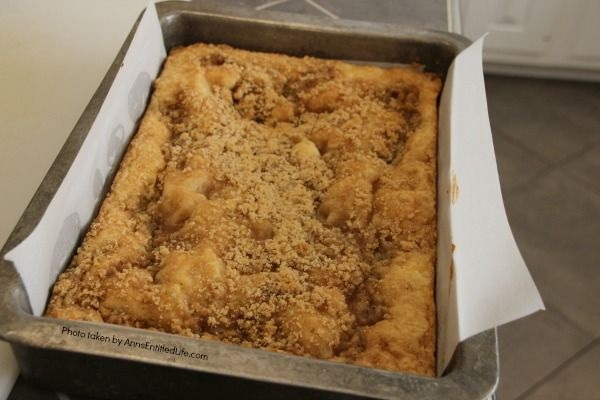 Easy Sour Cream Coffee Cake Recipe. This coffee cake is a moist, delicious, and simple to make recipe your friends and family will love. Make a large coffee cake for a big gathering, or divide the easy sour cream coffee cake recipe into two loaf pans – one to eat now, one to freeze for later. This wonderful sour cream coffee cake recipe is a great dessert, or early morning breakfast.