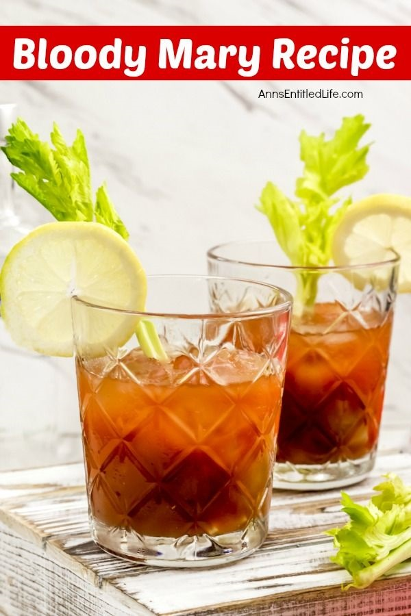 The Classic Bloody Mary Recipe. The Bloody Mary is one of the few cocktails that can be served any time of day! Breakfast, lunch or dinner, this classic Bloody Mary recipe made with vodka, tomato and lemon juice and just a splash of zest and spice is the perfect adult beverage.
