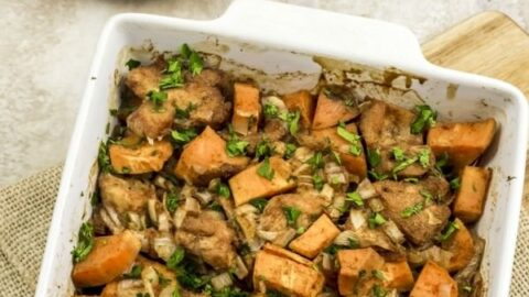 Spicy Chicken and Sweet Potato Bake Recipe