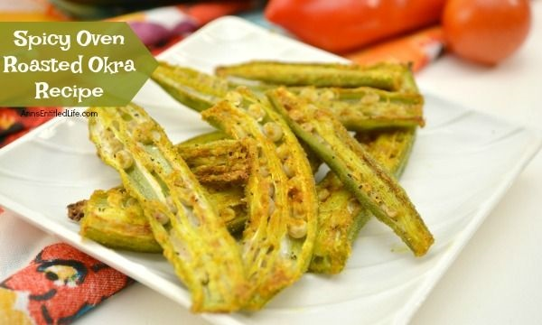 Spicy Oven Roasted Okra Recipe. See how easy it is to make a healthy okra recipe in your oven using these fabulous instructions. This delicious, spiced-up method for cooking your fresh okra will make an okra lover out of the most finicky eater. Serve this tempting spicy oven roasted okra recipe for dinner, an afternoon snack, or in place or chips or pretzels. It is that good!