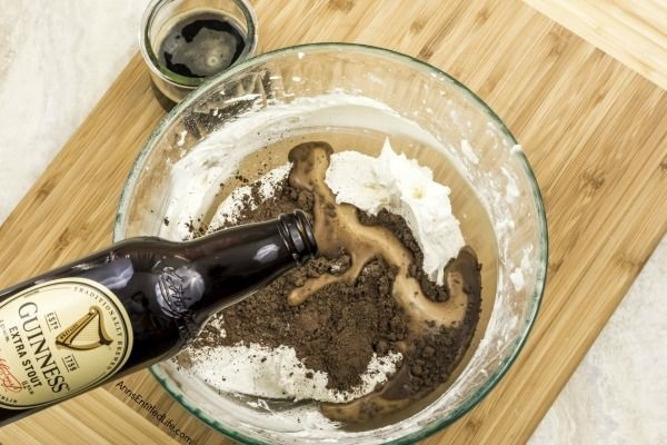Chocolate Beer Frosting Recipe. Make this fabulous homemade frosting the next time you are looking for a unique frosting recipe for your cake, brownies, or bars.  This chocolate beer frosting recipe is simple to make, and is ready in just a few minutes. This chocolate frosting can be piped, textured, petaled, used a smooth frosting and more!