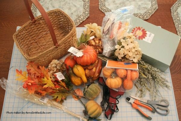 Homemade Bountiful Harvest Basket. Fall is traditionally harvest time. Bring a little of that bountiful harvest indoors with this beautiful fall decorating idea! This easy to make DIY fall decor piece makes a great fall centerpiece, side table decor, or even a floor decoration. Follow these step-by-step tutorial instructions for this beautiful, abundant fall harvest basket to add to autumn decorations.