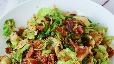 Leafy Brussel Sprouts with Bacon Recipe