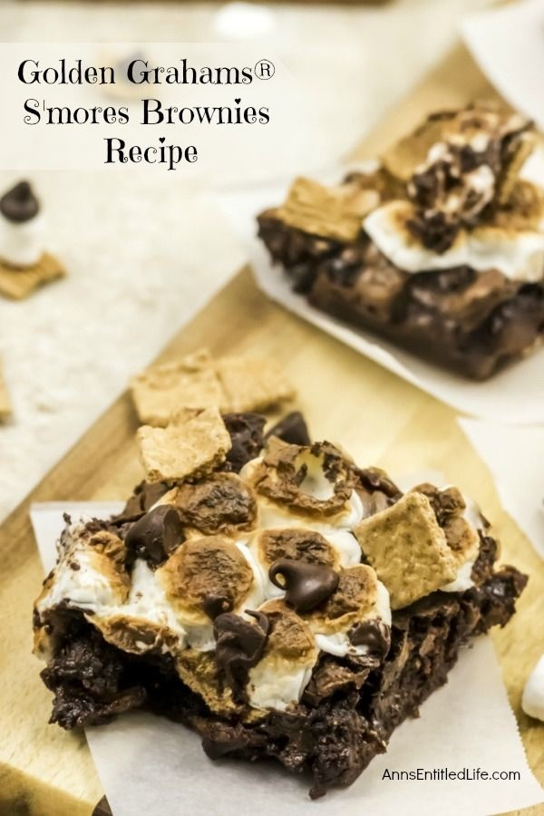 Golden Grahams S'mores Brownies Recipe. You do not need a campfire to get the great taste of S'mores. This updated twist on traditional s'mores is made with delicious, sweet golden grahams cereal. Great for parties and snacks, this easy to make golden grahams s'mores brownies recipe will quickly become a family favorite.
