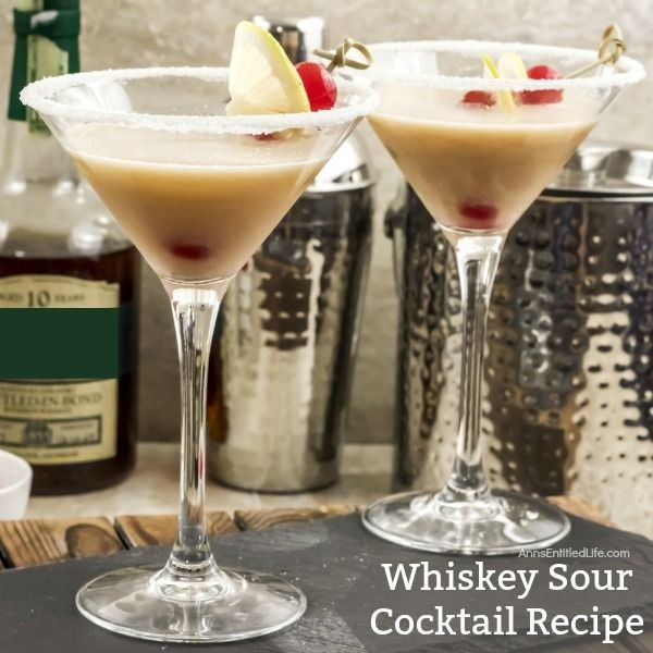 Whiskey Sour Cocktail Recipe. This classic Whiskey Sour Cocktail recipe is simply the best whiskey sour recipe you will find. Making your own whiskey sour from scratch is easy to do with these step-by-step instructions. The next time you want to impress family and friends with a classic cocktail, mix up a one (or a batch) of this fabulous adult libation!