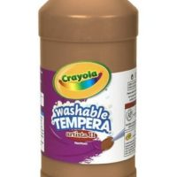 Crayola Tempera Washable Paint 32-Ounce Plastic Squeeze Bottle, Brown