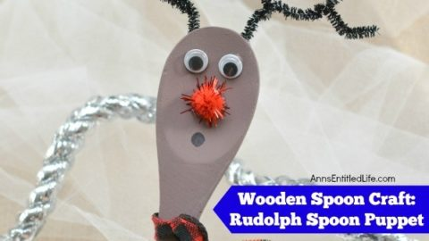 Wooden Spoon Craft: Rudolph Spoon Puppet