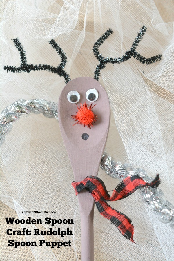 Wooden Spoon Craft: Rudolph Spoon Puppet. Make your own Rudolph spoon for the holidays with these step by step instructions! From children to adults, this adorable little