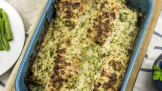Baked Salmon Recipe with Parmesan Herb Crust