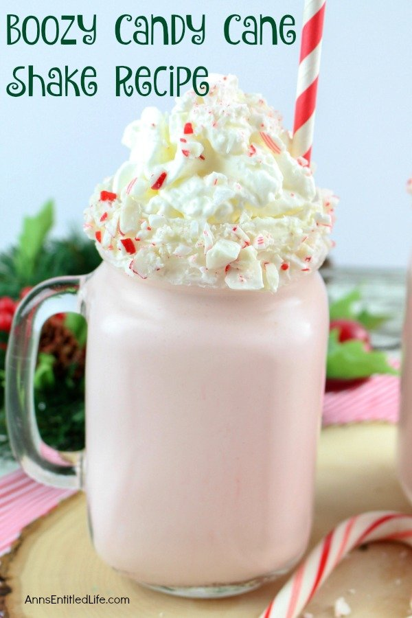 Boozy Candy Cane Shake Recipe. This super easy to make candy cane milkshake is a fresh, crisp, refreshing adult cocktail perfect for the holiday season. If you like the cool taste of peppermint, you will adore this festive holiday beverage.