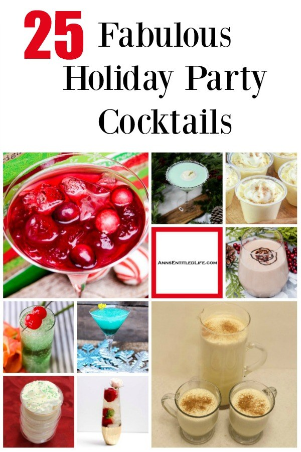 25 Fabulous Holiday Party Cocktails. 'Tis the season for a little holiday cheer! From new cocktail drinks to classic cocktails, from Jello shots to beverages that really pack an intoxicating wallop, there is an adult libation on this list for nearly any holiday occasion, big or small! So if you are looking for a festive nightcap, something to ring in the New Year, or perhaps a cocktail to sip by a warm fire this holiday season, take a look at this list of adult beverages. And have yourself a merry little Christmas.