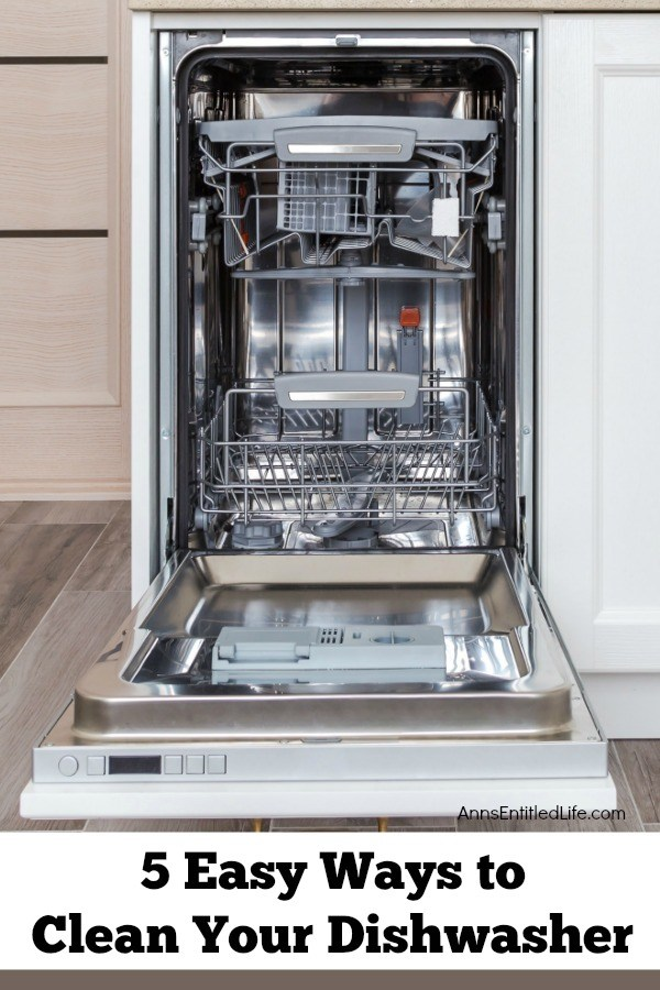 5 Easy Ways to Clean Your Dishwasher. Whether you are searching for an easy, natural option or a lesson on deep cleaning this essential appliance, I have you covered. These five easy ways to clean your dishwasher will have your beloved kitchen appliance sparkling fresh in no time.