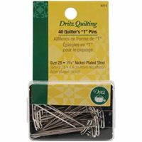 Dritz Quilter's T Pins, 1-3/4-Inch, 40 Count