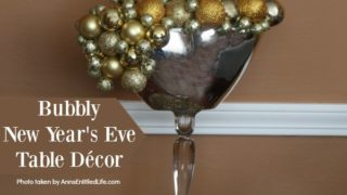 Bubbly New Year's Eve Table Décor