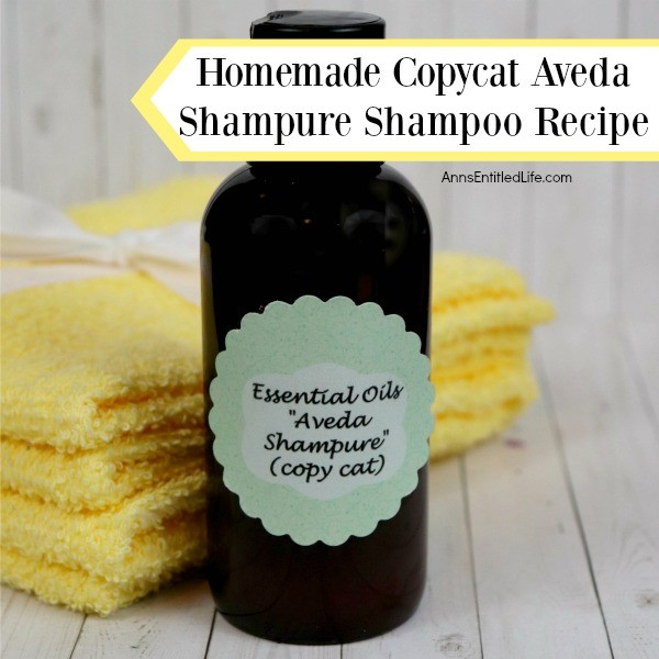 Homemade Copycat Aveda Shampure Shampoo Recipe. The smell and feel of your hair after washing with Aveda Shampure is simply divine, so why not make your own copycat version of the shampure shampoo at home by following this step-by-step instruction tutorial!  Your hair will feel clean, and smell fantastic at a fraction of the price.