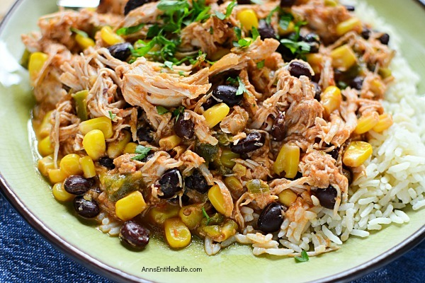 Stews do not get any easier to make than this delicious Tex-Mex chicken stew! Flavorful and fabulous, this chicken stew can either be served by itself, or over rice, or accompanied by corn bread for a tasty dinner or lunch the entire family will enjoy.