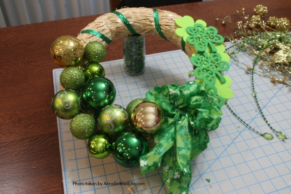 St. Patrick's Day Luck o' the Irish Wreath. Dress up your front door for St Patty's day with this easy to make St. Patrick's Day wreath door decoration. This is a fast, inexpensive wreath decoration that just might bring a bit of the luck o' the Irish your way.