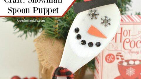 Wooden Spoon Craft: Snowman Spoon Puppet