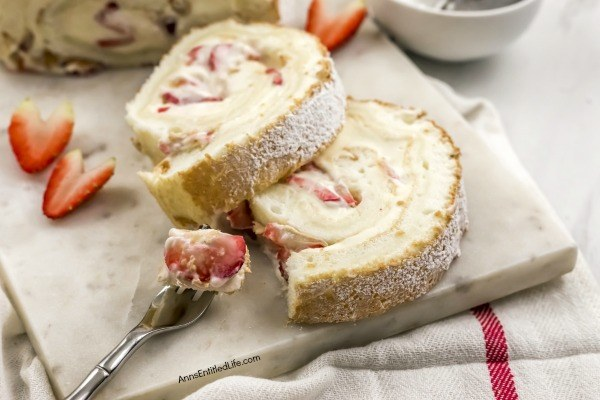 Easy Angel Food Cake Roll Recipe. This sweet and creamy, easy to make angel food cake roll is a strawberry and cream delight!! Make this angel food cake roll tonight; it is the perfect dessert to serve family and friends who may want something a little lighter at the end of your fabulous meal.