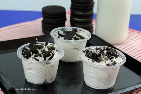 "Cookies and Cream Pudding Shots Recipe. Try this delicious, easy to make pudding shot recipe that is a great ""adult"" sweet treat for parties and weekends with friends and family. If you like the combination of cookies and cream, you are going to love these luscious cookies and cream pudding shots!"