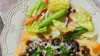 Mushroom Gruyère Triangle Tarts Recipe