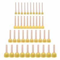 JMAF 40-Pieces Assorted Size Round Sponges Brush Set, Paint Tools for Kids