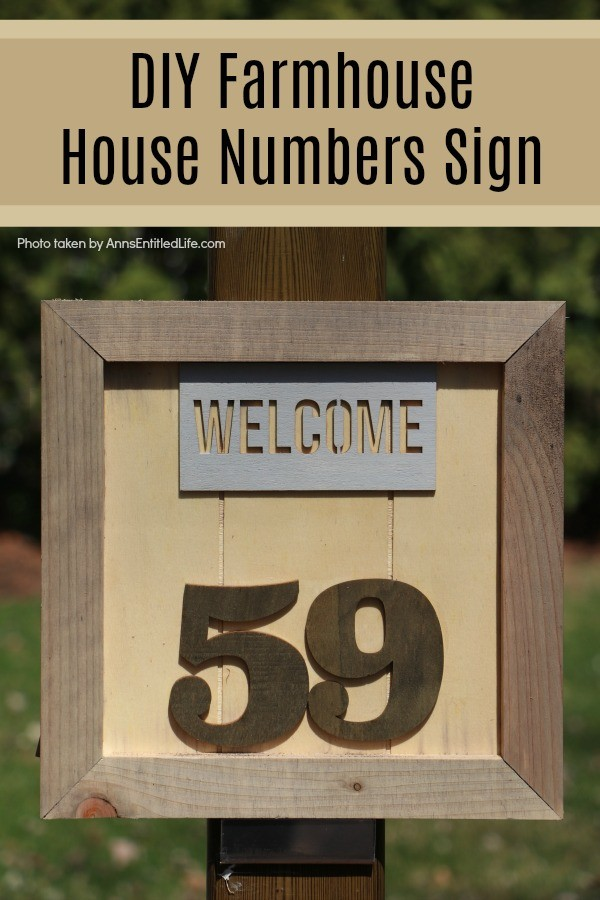 DIY Farmhouse House Numbers Sign. This cute little rustic plaque is fun to make. Large or small, this farmhouse house number sign can be sized to your house so it will fit perfectly in your chosen space. The easy to follow step-by-step tutorial will show you how to make this basic wooden sign look unique, fashionable, and charming.