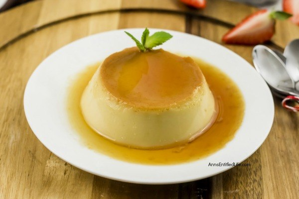 Classic Flan Recipe. This flan recipe has been updated slightly to make it a simple to cook dessert recipe. A traditional flan recipe is a wonderful egg-based dessert that is smooth, sweet goodness in every tasty bite; a custard caramel treat that is simply delicious.