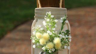 Farmhouse Décor: Jar Flower Holder