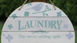 Farmhouse Décor: Laundry Room Organizer