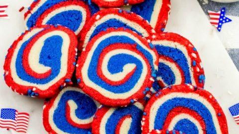 Red, White, and Blue Pinwheel Cookies Recipe