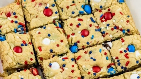 Fireworks Blondies Recipe
