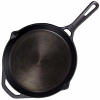 GreaterGoods Cast Iron Skillet 10 Inch, Pre-Seasoned cast iron with USDA Certified Organic Flax Seed - No Paint, Smooth Non-Stick Ten Inch Cooking Surface, Heirloom Quality