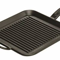 Lodge 12 Inch Square Cast Iron Grill Pan. Ribbed 12-Inch Square Cast Iron Grill Pan with Dual Handles.